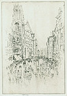 "Joseph Pennell, etching, ""St. Dunstan"
