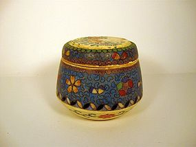 Japanese Totai Cloisonne Lidded Pot