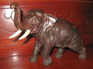 Japanese Meiji Bronze Elephant by Seiya