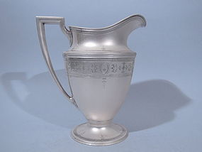 Tiffany Sterling Water Pitcher on Pedestal  C. 1910