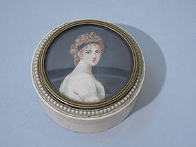 Ivory Portrait Box Circa 1890