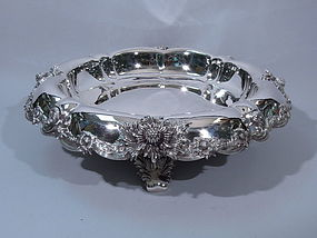 Tiffany Chrysanthemum Sterling Silver Centerpiece Bowl