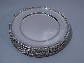 Set 12 Tiffany Sterling Silver Dinner Plates