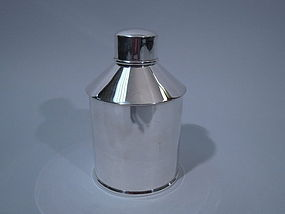 Gorham Sterling Oil Can Tea Caddy  C 1930