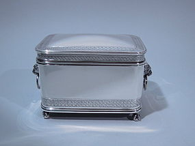 Gorham Sterling Jewelry Casket 1872
