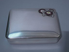 Japanese Silver Box Imperial Provenance