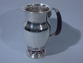 Georg Jensen Danish Sterling Silver Water Pitcher