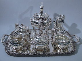 Tiffany Chrysanthemum Sterling Silver Tea Coffee Set