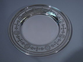 Tiffany American Sterling Silver Plate C 1920