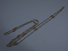 French 18 Kt Gold Chain C 1900