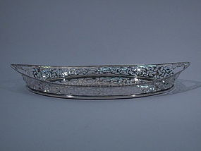 Dutch 835 Silver Tray C 1900