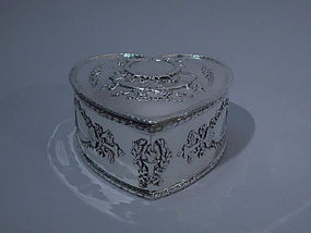 Howard Sterling Silver Heart Box C 1900