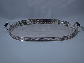 elkington English Birmingham Sterling Silver Tray 1885