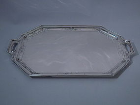 Gorham Octagonal Sterling Silver Tray C 1920