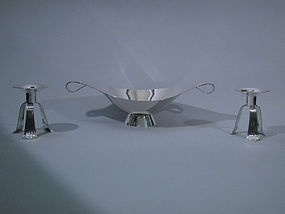 Tiffany Midcentury Sterling Silver 3-Piece Garniture