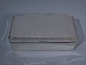 Elizabeth II English Birmingham Sterling Silver Box