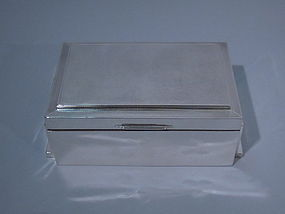 George V English Sheffield Sterling Silver Box 1933