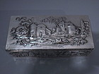 Kirk Sterling Silver Box with Rural Scenes C 1910