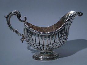 George IV Irish Dublin Sterling Silver Sauce Boat