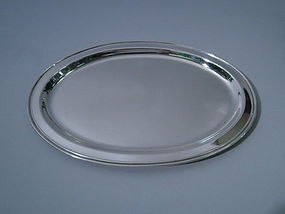 American Sterling Silver Oval Desk Tray