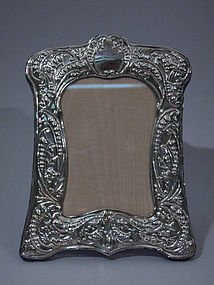Art Nouveau English Sterling Silver Frame