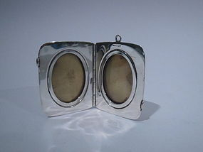 Traveling Sterling Silver Diptych Frame C 1940