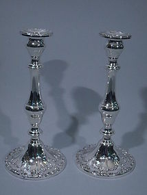 Pair of Gorham Sterling Silver Candlesticks