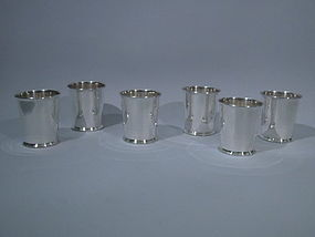 6 American Sterling Silver Mint Julep Cups C 1950
