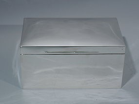 Victorian English London Sterling Silver Box 1899
