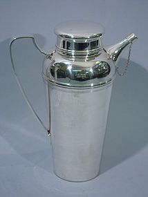 Large Tiffany Sterling Silver Martini Shaker C 1950