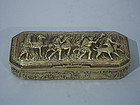 Silver Gilt Casket Box with Classical Hunt Scene C 1898