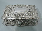 Gorham Sterling Silver Stamp Box C 1900