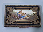 Rococo Silver Gilt and Enamel Box with Pastoral Scene