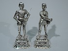 German Renaissance Silver Knights C 1920