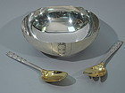 Tiffany 3-Piece Sterling Silver Tomato Set C 1943