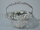 Tiffany Blackberry Sterling Silver Basket C 1905