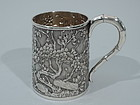 Chinese Silver Baby Cup by Wang Hing C 1910