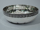 Tiffany Sterling Silver Bowl with Beading and Scrolls