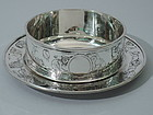Circus Bowl on Stand - American Sterling Silver C 1915