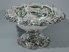 Antique Punch Bowl - American Sterling Silver C 1900