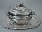 Christofle Covered Soup Tureen on Stand - French Silver