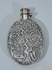 Chinese Export Silver Flask by Wang Hing C 1900