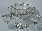 Elegant English Edwardian Epergne 1902