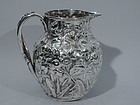 Kirk Silver Water Pitcher - Baltimore Repousse C 1890