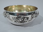 Antique Sterling Silver Bowl with Flowers C 1900
