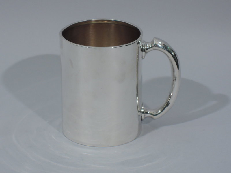 Antique Plain and Sturdy Baby Cup - American Sterling Silver 1886