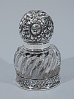 Gorham Sterling Silver and Cut Glass Inkwell C 1900