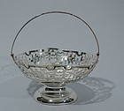 Antique Chinese Silver Footed Basket