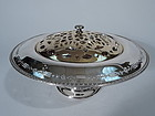 Antique Reed & Barton Sterling Silver Bowl Vase with Frog