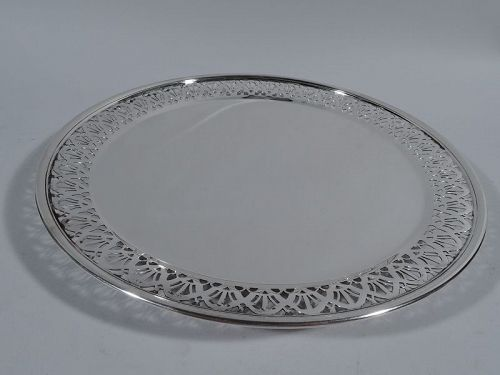 Antique Tiffany Edwardian Sterling Silver Cake Plate & Antique Tiffany Edwardian Sterling Silver Cake Plate (item #1367980)